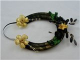 Nixneedles Gold and Black Wedding Horseshoe