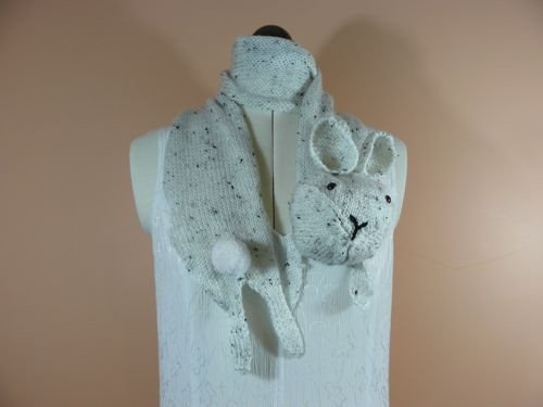 Nixneedles Rabbit Scarf Speckled