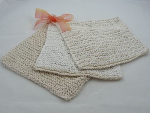 Two Toned Dish Cloth Knitted Dish Clothes Free Knitting Patterns