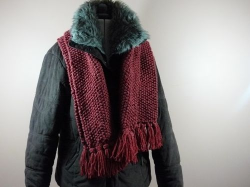 Moss Stitch Scarf Free Knitting Pattern Knitted Scarf Knitted