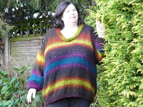 Casual Jumper With Optional Cowl Neck Free Knitting Patterns