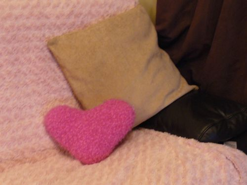 Heart Shaped Cushion Free Knitting Pattern Valentines Knitted
