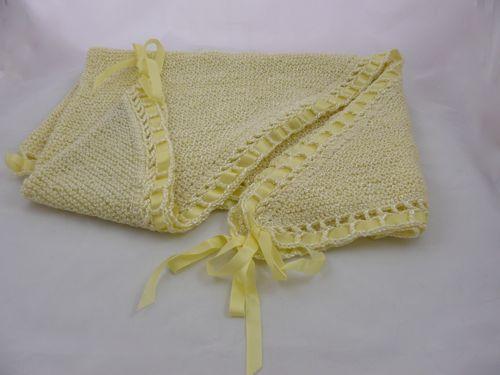Triangular Ribboned Shawl | Free Knitting Pattern | how to knit ...