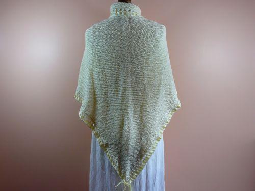 Triangular Ribboned Shawl Free Knitting Pattern How To Knit