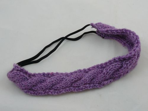 Cabled Hair Band Knitted Hair Band Knitted Hairband Free