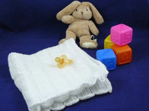 Scalloped Pram Blanket For Baby Free Knitting Pattern Nixneedles Uk