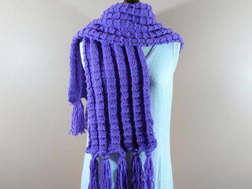 Ridge Scarf Free Knitting Pattern Knitted Scarves Knitted