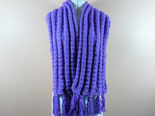 Ridge Scarf | free knitting pattern | knitted scarves