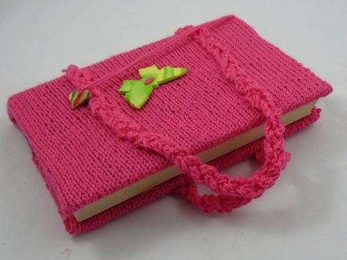 Knitted Book Bag Knitted Bags And Purses Free Knitting Pattern