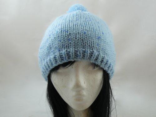Basic Bobble Hat Free Knitting Pattern Knitted Bobble Hat