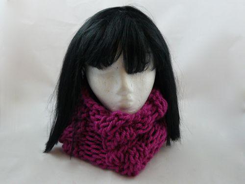 Cabled Snood Free Knitting Pattern Superchunky Yarn Nixneedles Uk