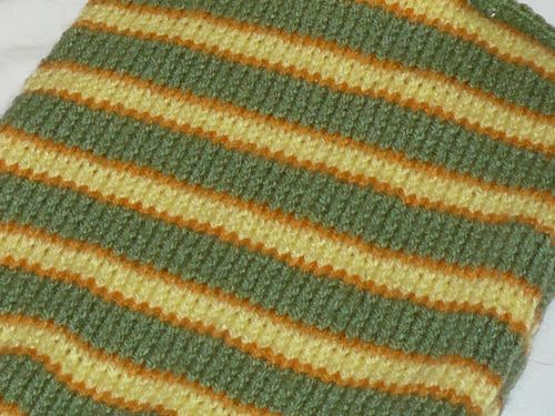 Autumnal Striped Hot Water Bottle Cover Knitted Hot Water Bottle