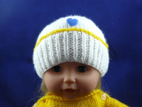 e62580e10 Tiny Tears Crown Hat   Knitted Tiny Tears Clothes   Free Knitting ...