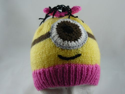 <p>Image of the front of the childs character hat. &nbsp;This is a free novelty knitting pattern from the Nixneedles Novelty Knits collection.</p>