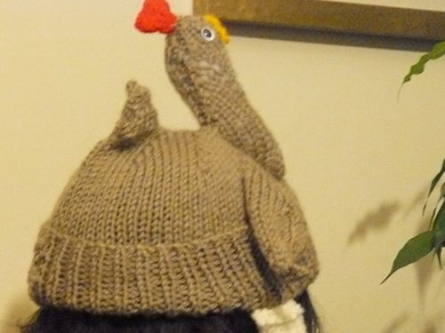 Adults Chicken Hat Free Novelty Knitting Patterns Free Knitting