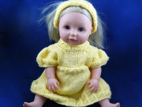 Squared Dress For 16 Doll Knitted Tiny Tears Clothes Free