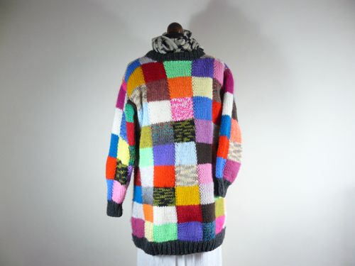 Adult Squared Jumper Knitted Jumper Free Knitting Pattern