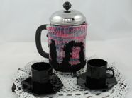 knitted cafetiere cosies