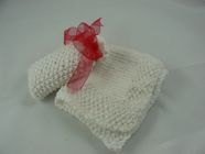 moss stitch face cloth & soap bag