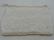 two toned knitted dish cloth