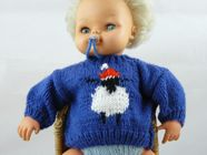 Free Knitting Pattern Dolls Jumper : Knitted Dolls Clothes free knitting patterns Nixneedles UK