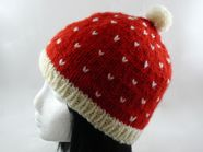 festive speckled bobble hat