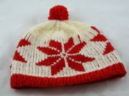 Poinsettia bobble hat