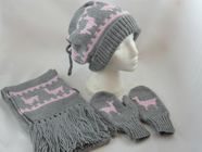 free knitting pattern Llama Hat, scarf and Mittens