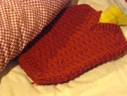 V-necked Hot Water Bottle Cover