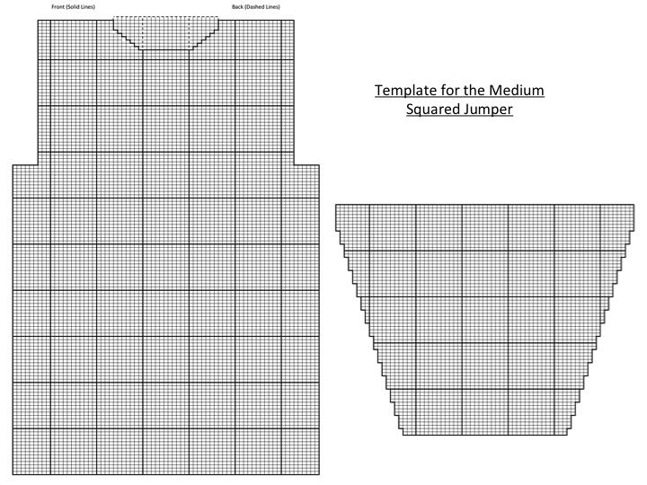medium squared jumper template