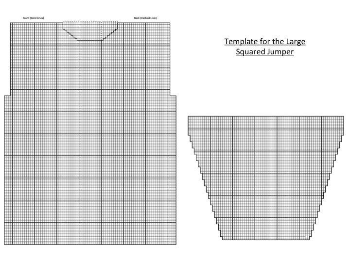 large square jumper template