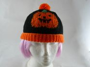 Childs Pumpkin Bobble hat