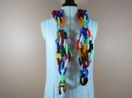Knitted Paperchain Scarf