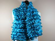 Ruffled scarf in Salsa or cancan yarn
