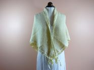 triangular ribboned shawl
