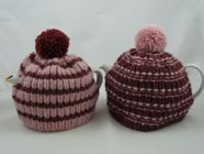 Super chunky knitted tea cosy with 2 different looks