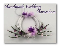 Handmade Wedding Horseshoes; Nixneedles UK