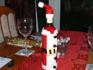 Santa Wine Bottle Cover