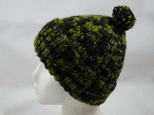 Adults Ribbed Bobble Hat knitted bobble hat knitted ...